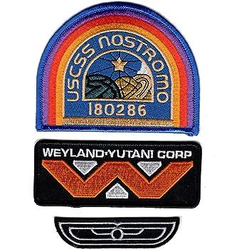 Alien Weyland Yutani Wing Large 4.5 Inch Wide Iron On Patch