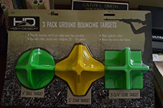 High-Desert Multi Pack Reactive Ground Bouncing Shooting Targets Round, Star & Square Hot Box