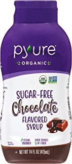 Organic Chocolate Flavored Syrup By Pyure | Sugar-Free, Keto, 1 Net Carb | 14 Fl. Oz