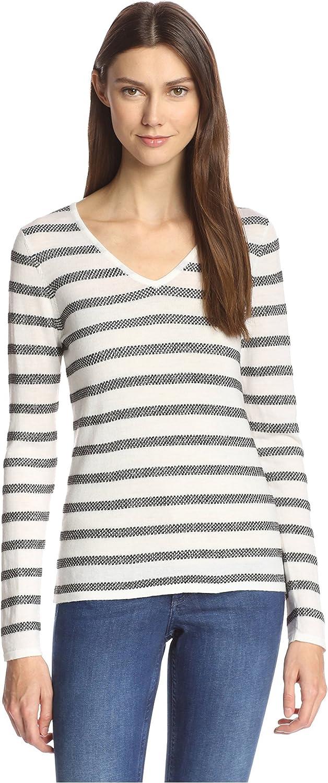 Kier & J Women's VNeck Lurex Sweater