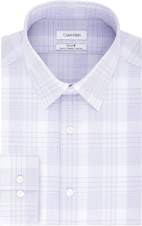 Calvin Klein Branded goods Men's Dress Shirt Non Iron Stretch Fit C Indefinitely Point Slim