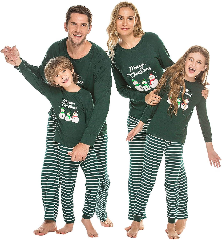 Ekouaer Matching Family Pajamas Set Christmas Pjs Long Sleeve Holiday Sleepwear