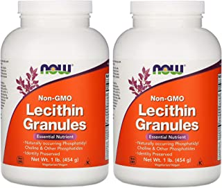 Now Lecithin Granules with Naturally Occurring Phosphatidyl Choline and Other Phosphatides (1 Pound / 454 Grams) Pack of 2