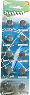 10 Eunicell AG10 / 189 / 389 / LR1130 Button Cell Watch Battery With Long Shelf Life (Expiry Date Marked)