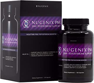 Nugenix PM - ZMA Nighttime Sleep Aid, Muscle Recovery, Free Testosterone Booster, Contains Patented Clinically Studied Dos...