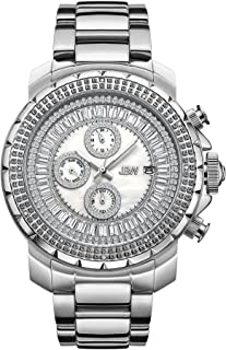 JBW Luxury Men's Titus 12 Diamonds & Baguette Cut Swarovski Crystals Dial Watch