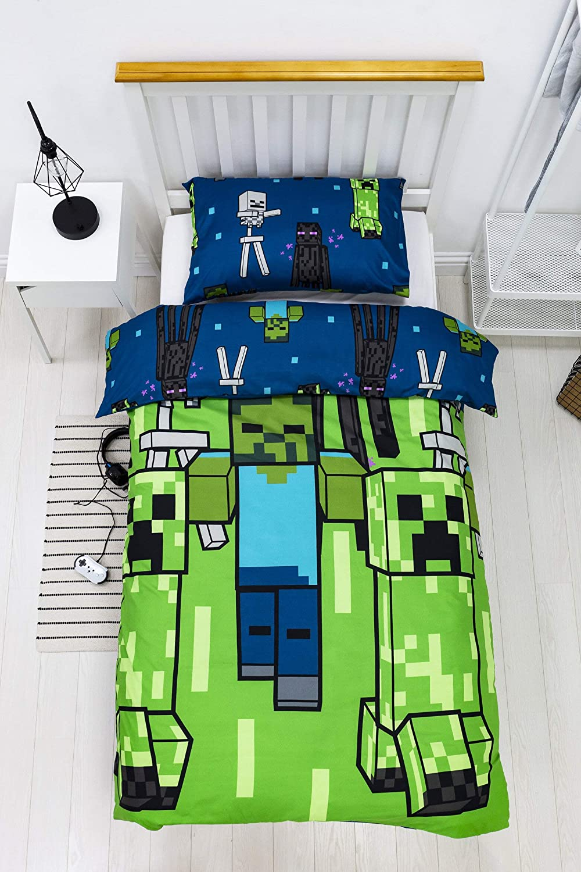 Super intense SALE Minecraft Luxury Creeps Single Duvet Cover Design Set - Rotary