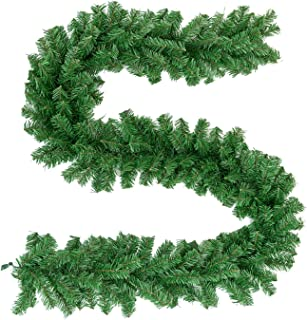 green christmas garland wholesale
