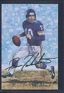 Fran Tarkenton Signed 1989 Goal Line Art Card Autograph Auto AD70688 - PSA/DNA Certified - NFL Autographed Football Cards