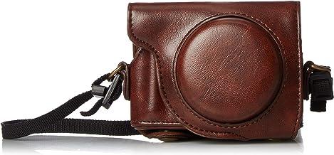 CEARI Detachable Camera Leather Case Protective Bag for Canon PowerShot G9X + Microfiber..