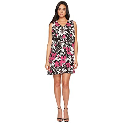 B Collection by Bobeau Iban Shift Dress (Floral Magenta) Women