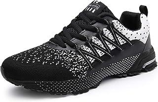 comprar comparacion SOLLOMENSI Zapatillas de Deporte Hombres Running Zapatos para Correr Gimnasio Sneakers Deportivas Padel Transpirables Casu...