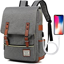 کوله پشتی های لپ تاپ پرنعمت پرنعمت UGRACE کوله پشتی های باریک و مسافرتی با کابل شارژ USB برای آقایان
