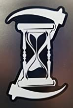 Firehouse Graphics 3M Reflective Father Time Hourglass Double Scythe Grim Reaper Death Vinyl die Cut Sticker Decal (3