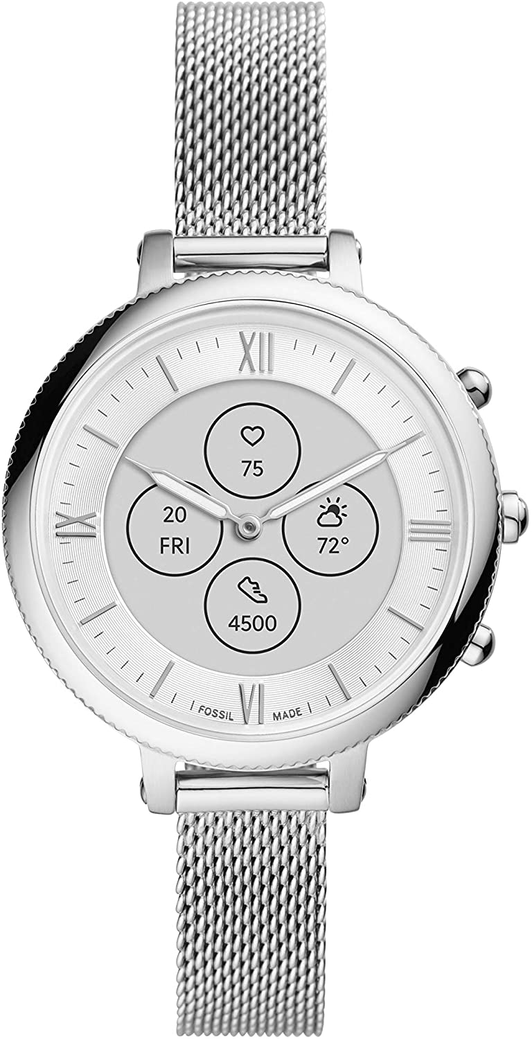Fossil Women's Monroe Hybrid Store Smartwatch with HR Animer and price revision Always-On Readou