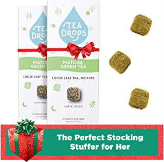 Sweetened Organic Loose Leaf Tea | Instant Tea | Handcrafted Best Selling Herbal Tea Drops | Great Gift For Tea Lovers | Delicious Hot or Iced | By Tea Drops (Matcha Green Tea (2-pack))