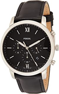 Fossil Men's Black Dial Mixed Band Watch - FS5452
