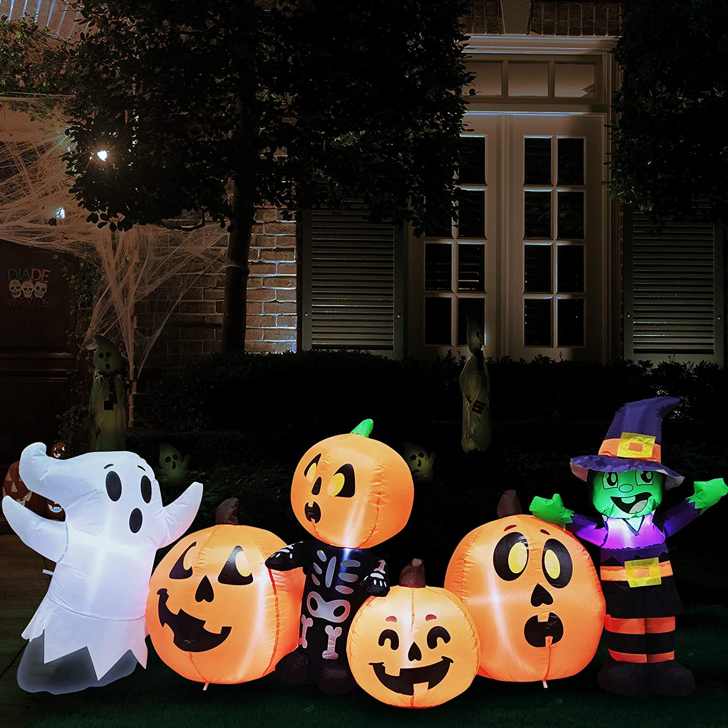 Bargain sale Joiedomi 8 ft Long Three Patch and Pumpkin Halloween Characters A surprise price is realized