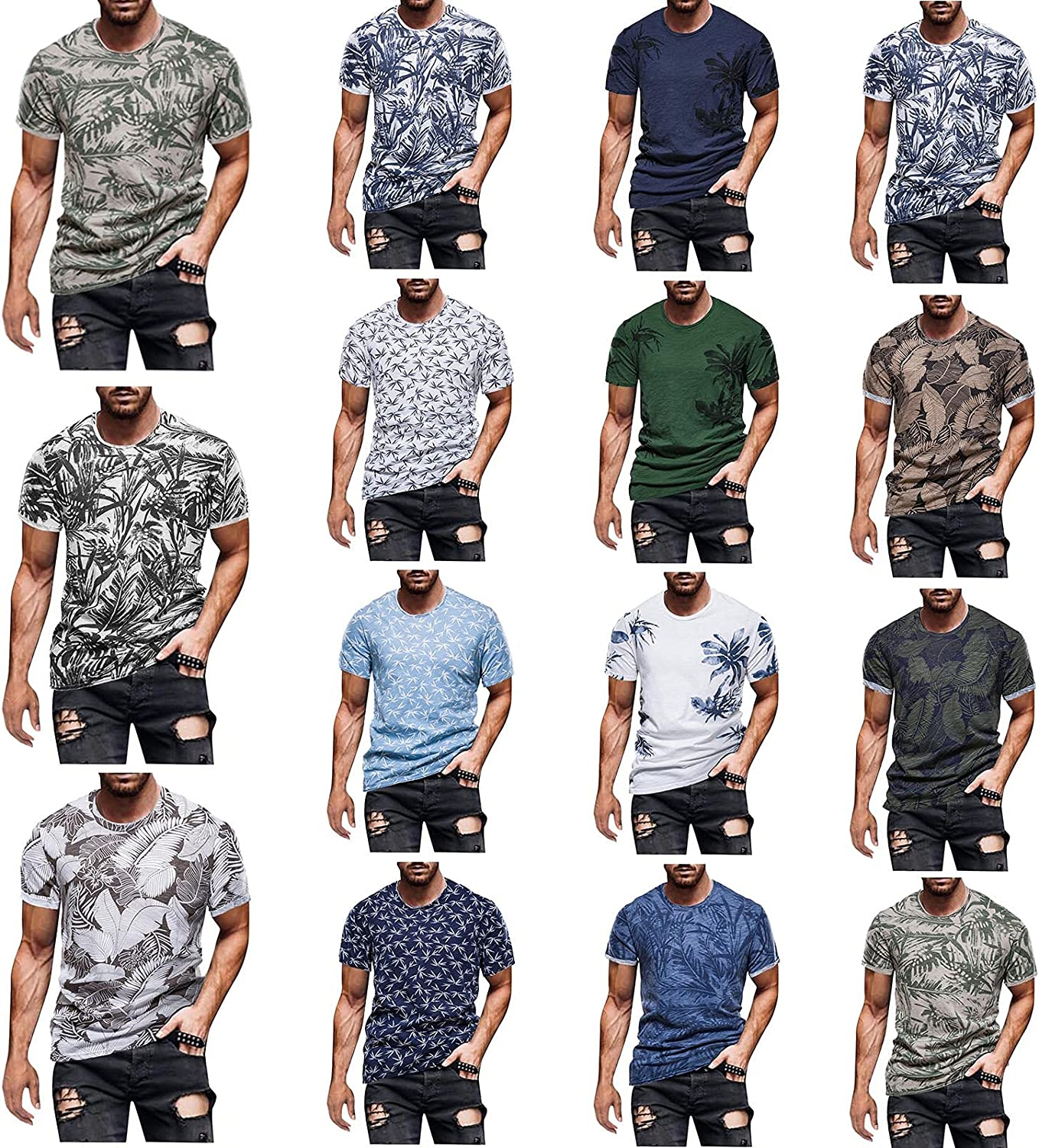 JSPOYOU Mens Muscle Gym T-Shirts Athletic Workout B Sleeve List Spring new work price Short