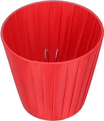 """WNSC Abat-Jour, Exquis 6pcs Clip on Fabric Red 3.5""""* 5.1"""" * 5.5""""Abat-Jour, Lustre en Cristal Hôtel pour Petit A, B, C, F, P Ampoules Lampe de Table Applique Murale Accueil"""