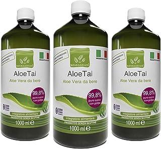 comprar comparacion Jugo y pulpa de Aloe Vera para beber, sin pasteurizar y sin filtrar - Hecho en Italia a partir de nuestros cultivos - 3 x ...