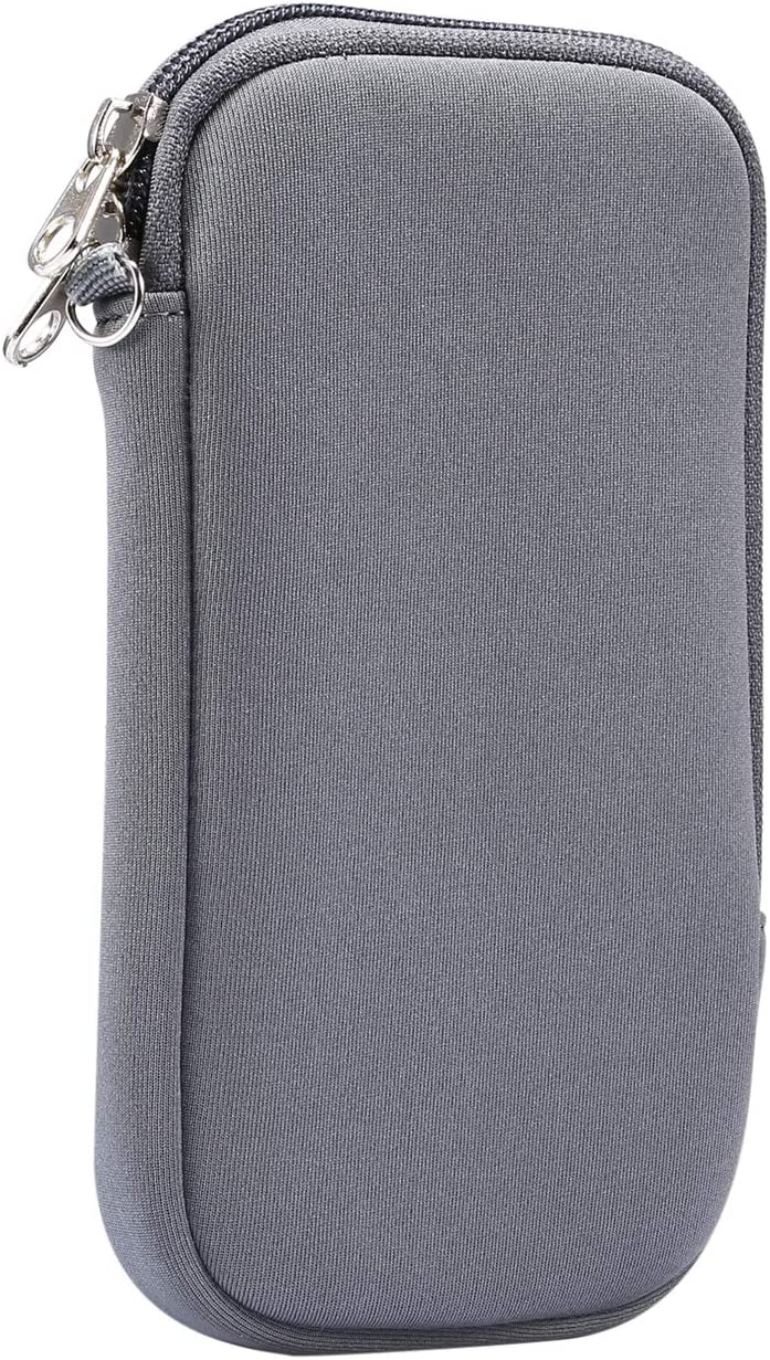 Cell Phone Protective Case Neoprene Sleeve Pouch for Motorola Edge/One Action/One Vision/G Power / G8 Plus/LG V50 / V40 ThinQ/Stylo 5/4 / Xiaomi Redmi 9 / Note 9 / Note 8 / Mi 10 (Gray)