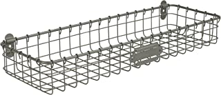 Spectrum Diversified Vintage Wall Mount Storage Tray/Basket, Industrial Gray