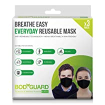Bodyguard Breathe Easy Everyday Reusable Anti Pollution Mask – 3 Unit