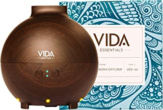 Extra Large Essential Oil Diffuser Holds a Big 20 FL OZ / 600 ml. Lasts All Night, Very Quiet. Mist Humidifier Aromatherapy Machine for Office Home Bedroom Study Yoga Spa (Dark Brown). …