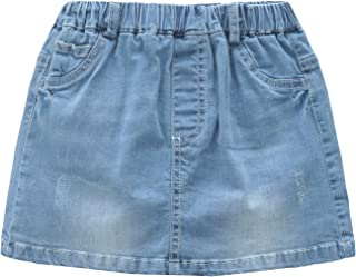 Grandwish Little Girls Solid Color Denim Skort 2T-8T