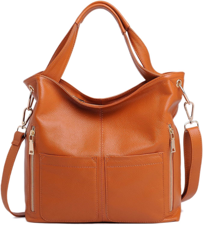Castopber Women's Cow Genuine Leather Large Shoulder Handbags