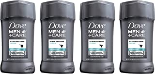 Dove Men+Care Antiperspirant Deodorant, Stain Defense Clean, 2.7 oz, 4 count