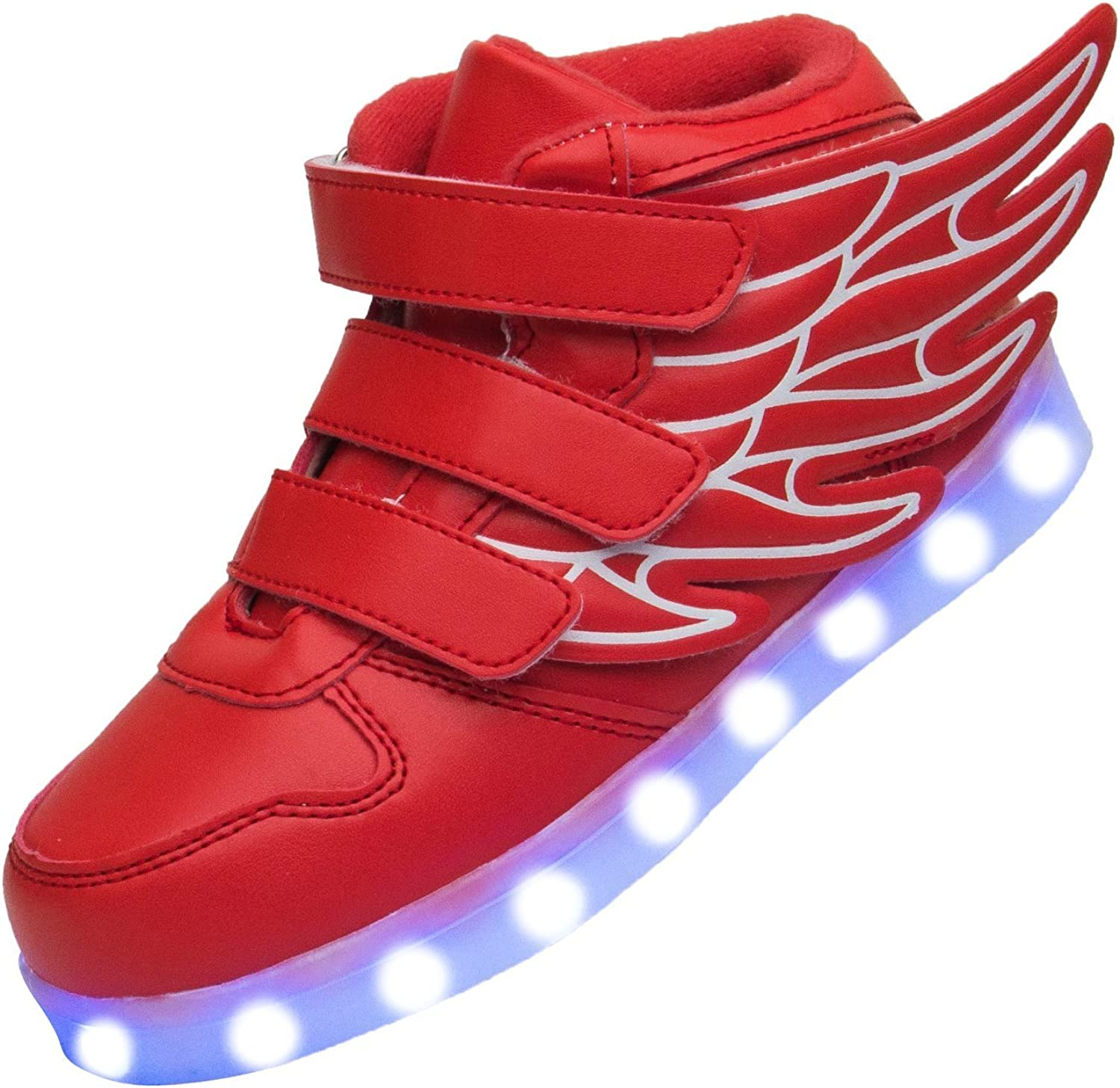 laideqi Fashion Wings LED Light Up Shoes USB Flashing Sneakers for Toddler//Kids