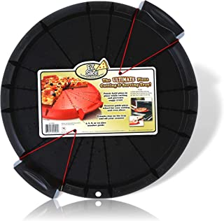 EZ Slice Pizza Cutting and Serving Tray - Color Black