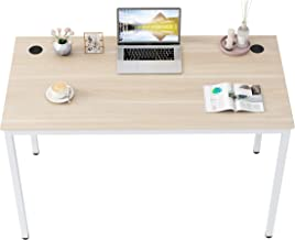 """DESIGNA Computer Desk 47"""", Study Writing Desk for Home Office, Modern Simple Style Desk, Sturdy & Easy Assemble, Embossed ..."""