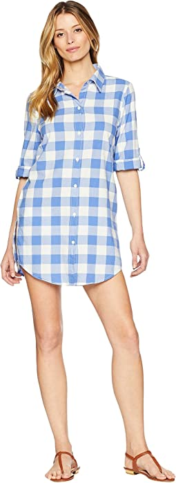 Capri Gingham Shirtdress Cover-Up