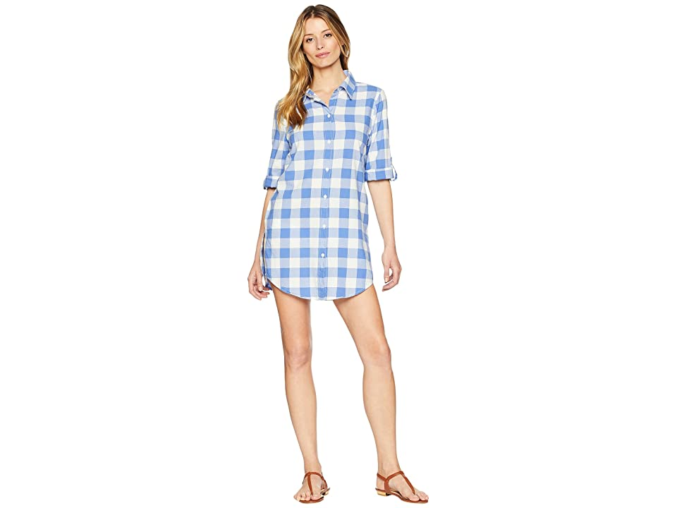 Nanette Lepore Capri Gingham Shirtdress Cover-Up (Azul) Women