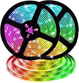 Erholi 1M/2M//5M/10M 3528 SMD RGB 600LEDs Strip Light with IR Remote Controller Outdoor String Lights