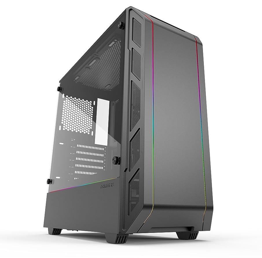 Phanteks Eclipse P350X (PH-EC350PTG_DBK) Compact EATX Mid-Tower Case, Tempered Glass, Digital RGB, Black