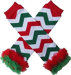 Cute Kids Clothing Baby Toddler Girl/Girls Chevron Christmas Leg Warmers Socks