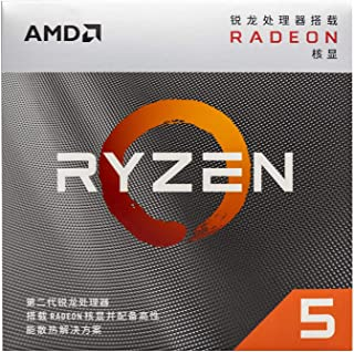 ZHEBEISuitable for Ryzen AMD Ryzen 5 3400G boxed CPU AM4 with set display support B450 motherboard