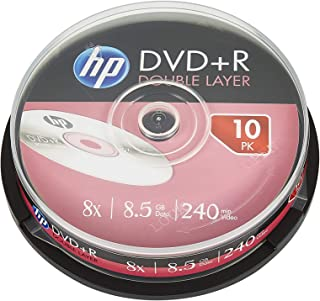 Hewlett Packard DVD+R Double-Layer 8X, 10 Pieces in Cake Box
