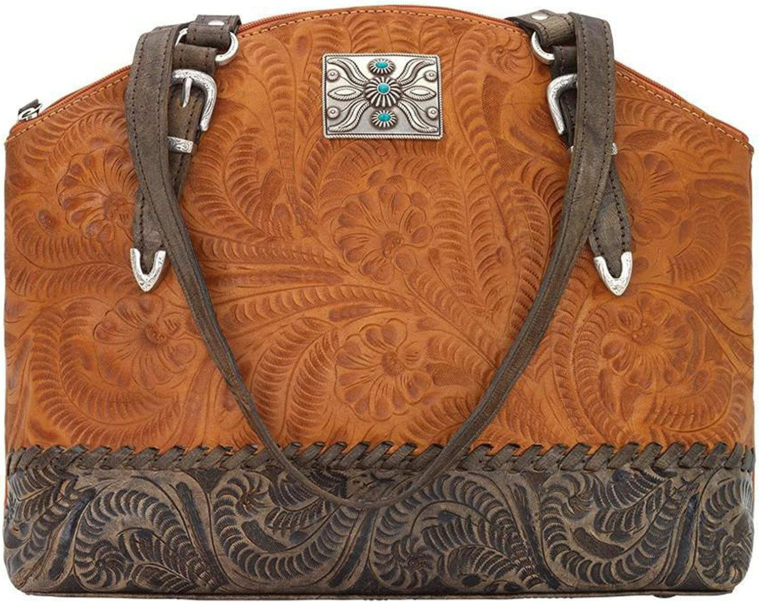 American West Women's Annie's Concealed Carry Half Moon Tote Tan One Size
