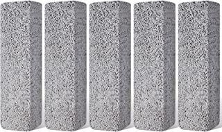 5Pcs Pumice Stones Toilet Bowl Cleaner, KAIMAIC Pumice Sticks Scouring Pad for Cleaning Hard Water Ring and Stains Remover for Bath Kitchen Pool Tile Household (Gray)