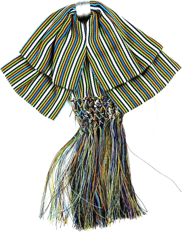 Mexican Charro Bow Tie Green stripe elastic band