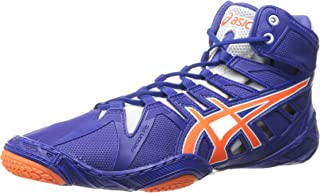 ASICS 男士 Omniflex-Attack 2 摔跤鞋 True Blue/Shocking Orange/White 9 M US