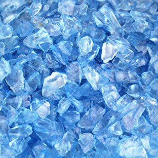 CYS EXCEL Glass Vase Fillers, Glass Gravel, Crushed Stone, Stone Gem for Centerpieces, Approx 5000 Pieces, 2LBS (Glass Gravel Light Blue)
