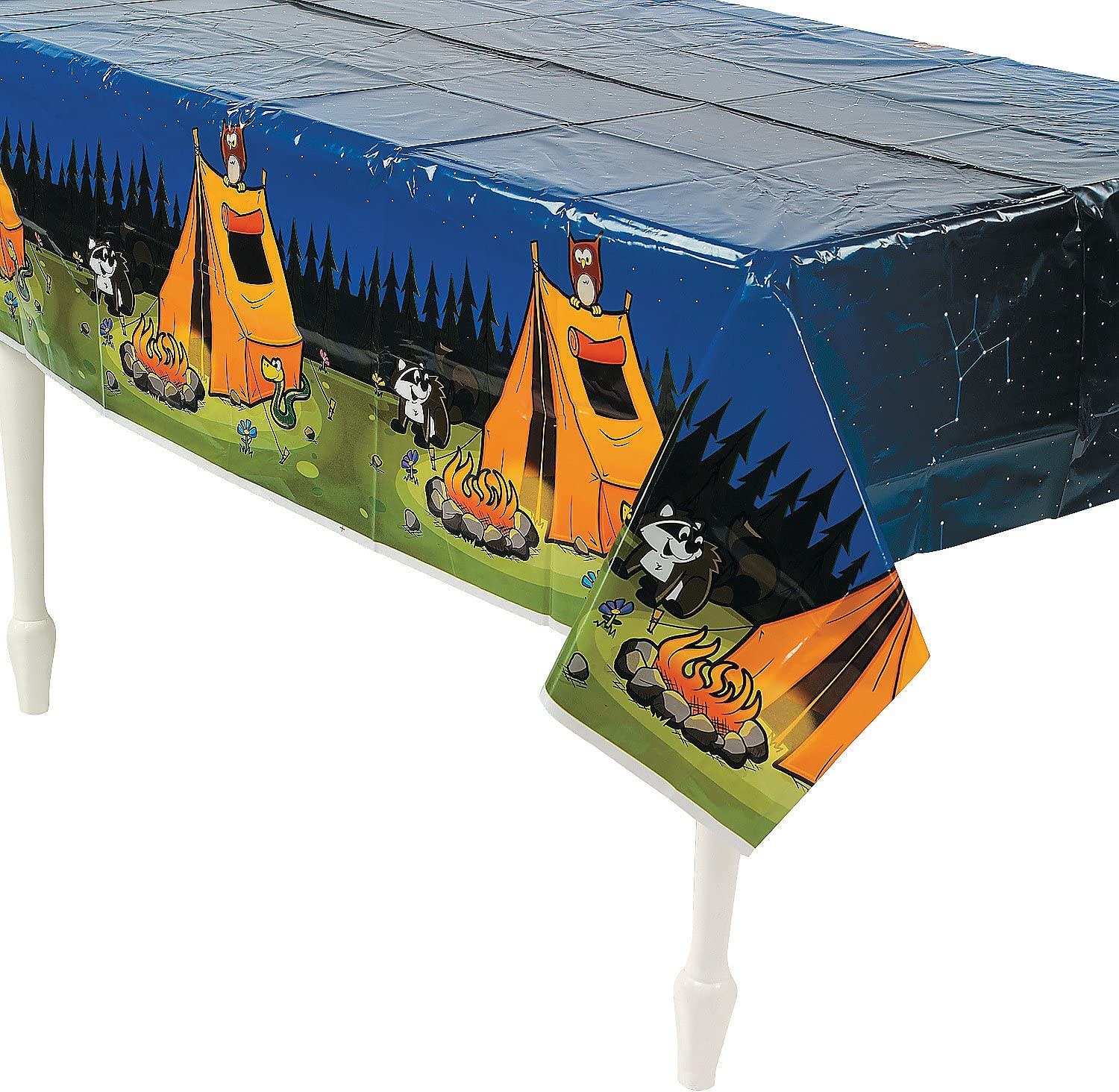 CAMP ADVENTURE TABLECOVER - 1 At the price Party Direct store Piece Supplies