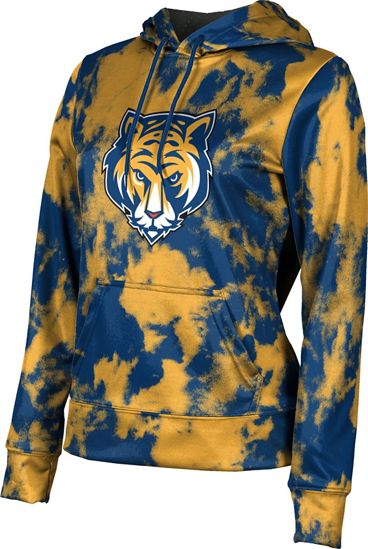 ProSphere Queensborough Community College Girls' Pullover Hoodie, School Spirit Sweatshirt (Grunge)