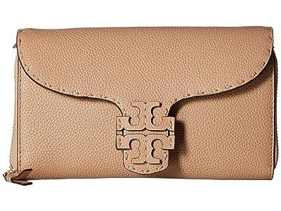 Tory Burch McGraw Wallet Crossbody (Devon Sand 1) Cross Body Handbags
